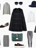 (#How to wear… ?) Checked Cape