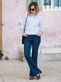 Jeans Flare & Rayures