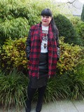 "@Missguided + : Review manteau tartan, tshirt ""Don't Ask"" & Jupe bi-matière"