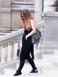 All black Converse – Elodie in Paris