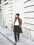 Black, White & Camel – Elodie in Paris