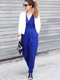 Blue jumpsuit – Elodie in Paris