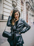 Fake Leather – Elodie in Paris