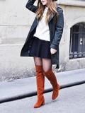 For the love of thigh high boots – Elodie in Paris
