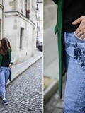 Green & Blue embroidery – Elodie in Paris