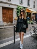Little Black Dress & Dad Shoes – Elodie in Paris