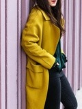 Perfect yellow coat – Elodie in Paris