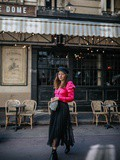Pink Black Look Stradivarius – Elodie in Paris