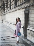 Pink Cardigan – Elodie in Paris