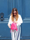 Pink Furla & Wide Pants – Elodie in Paris