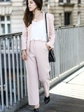 Pink suit – Elodie in Paris