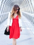 Red dress – Elodie in Paris