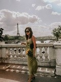 Satin dress – Elodie in Paris