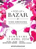 Save the date : pop-up bazar // Vide dressing, createurs, cocooning