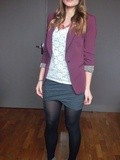 Blazer bordeaux + Ludka ♥