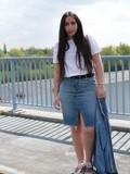 Outfit of the day : the denim skirt