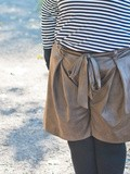 Le short large marron