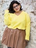 Poufsouffle casual, la tenue jaune