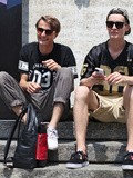 # Models off duty, Milan