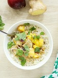 Curry au lait de coco, mangue et gingembre