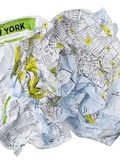 Un plan à froisser : Crumpled City™ Maps