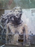 Sunday Street Art : Borondo - rue Lemon - Paris 20