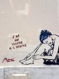Sunday Street Art : Miss Tic - rue des Cinq Diamants - Paris 13