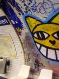 Sunday Street Art : Monsieur Chat - Métro - Station Colonel Fabien - ligne 2 - Paris 19