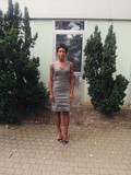 Outfit / vintage grey dress