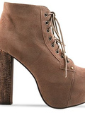 Lita in taupe suede / jeffrey campbell