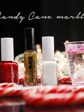 Nail art de fêtes // Watermarble Candy Cane