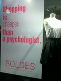 Shopping is cheaper than a psychologist