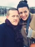 Scott Schuman and Garance Doré in the Tuileries