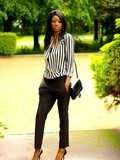Black and white stripes - La working girl tendance