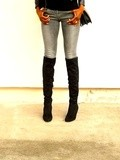 Les cuissardes en daim - Over the knee boots