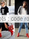 Trend alert : Les bottines rouges