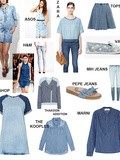 Shopping list en blue jeans