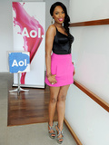 Steal Style | La mini jupe rose Zara de Jennifer Hudson