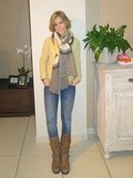 Yellow-taupe cashmere